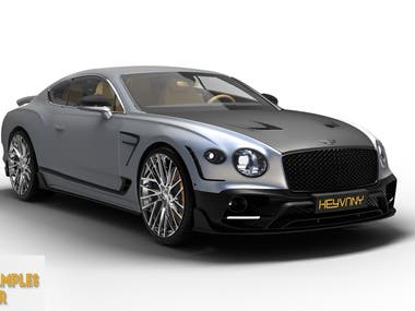 3D MODEL OF MODIFIED BENTLEY FOR CLIENT