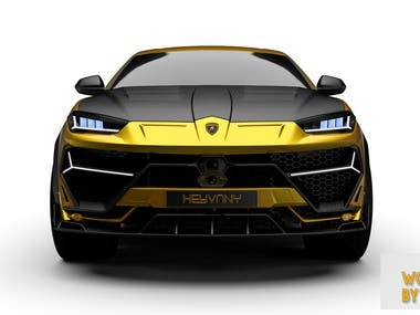 3D MODEL OF MODIFIED LAMBORGHINI URUS FOR CLIENT