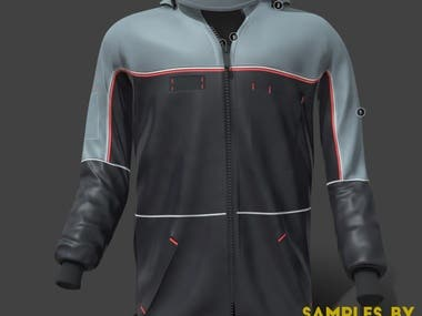 3D MODEL OF A PULLOVER/JACKET FOR CLIENT