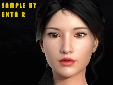 3D CHARACTER MODEL FEMALE FOR CLIENT
