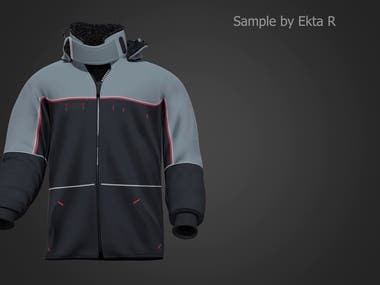 3D JACKET ANIMATION FOR CLIENT