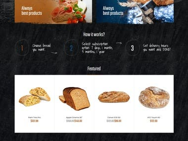 shopify store for Bakery