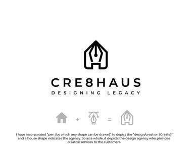 Crea8Haus Logo Identity Design