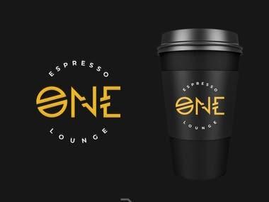 Espresso One Coffee Lounge Logo Design