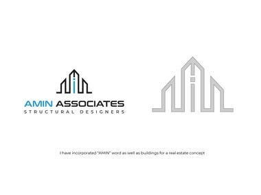 Amin Associates Logo Design