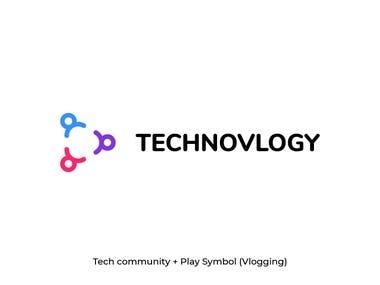Technovlogy Logo Design