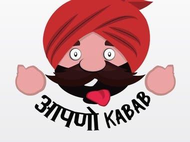 AAPNO KABAB Logo design