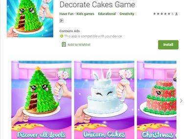 Mobile Game : Unicorn Cake Christmas