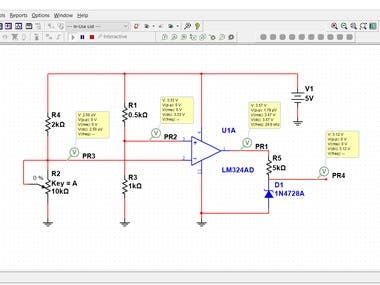 Signal Conditioning Circuit Using Multisim