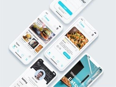 Eatsy Restaurant App UI