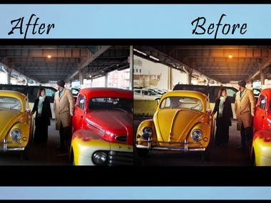 Photo Retouching with color correction