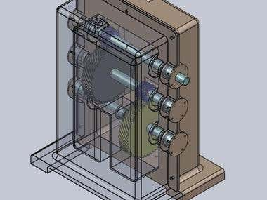Design and Modeling of Gear Box assembly