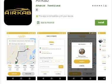 Airkab Android Application
