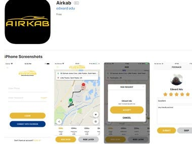 Airkab iOS application