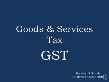 Presentation on Indian GST