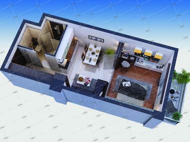 Isometric/ Interior 3D views