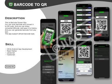 BarcodeToQR - Barcode translate app