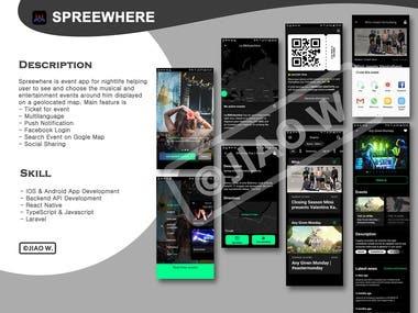 Spreewhere - Event App