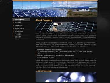 Zeeshan Solar Company Website