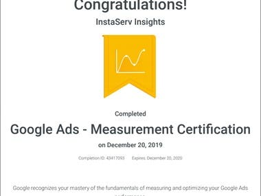 Google Ads Measurement Certification