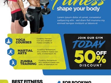 Gym Fitness Center Flyer