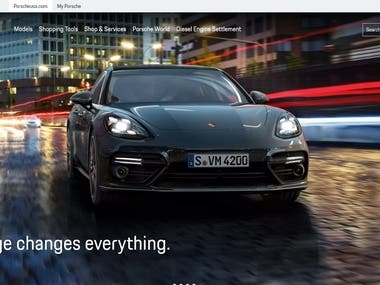 Porsche: Time to Get In by React.js and Node.js