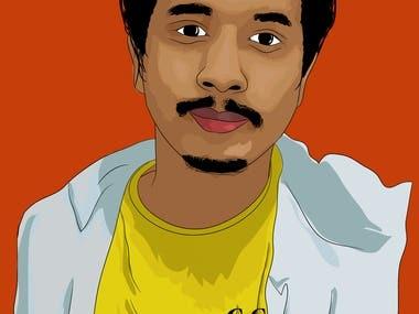 Vector art, Cartoon face