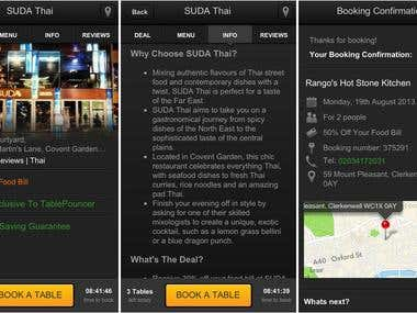 Find restaurant and booking app