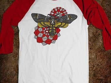 death head moth shirt