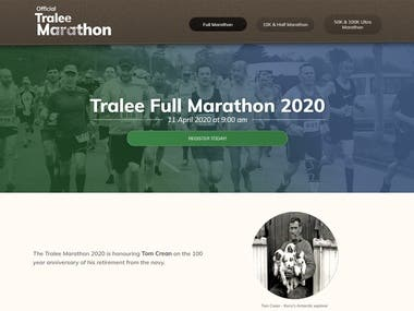 Modern static website for Marathon