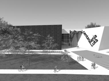 The concept design of the cultural center
