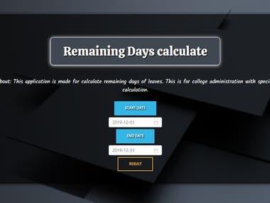 Remaining days