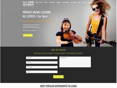All Arts Academy website