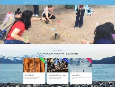 Adventure activity Website