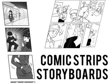 comic strip & storyboards