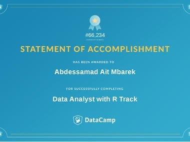 Data Analyst certificate