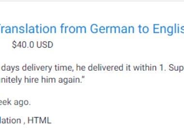 German to English HTML translation