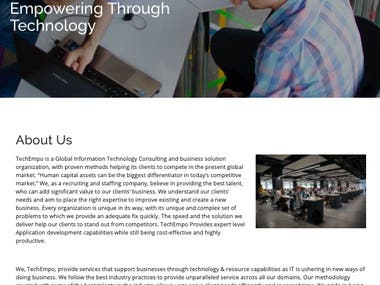 Website Content for a technology service company