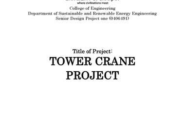 """Tower Crane Project"" from Sarjah University"