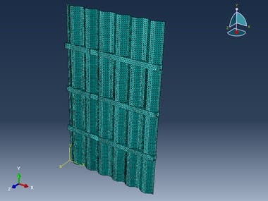 Corrugated Wall Meshing (Finite Element Method) with ABAQUS