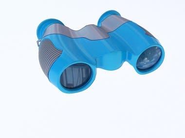 Plastic Folding Binoculars Telescope