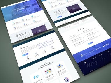 Modern Single Web Page Design, Development