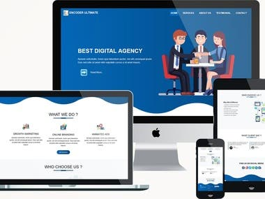 Responsive single page agency web template