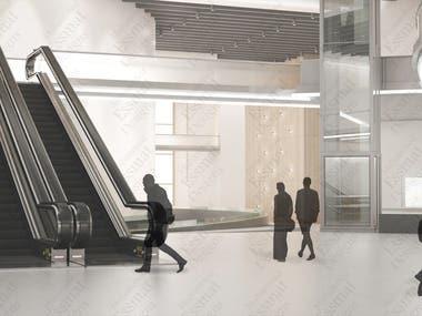 Exhibition Gallery Interior design