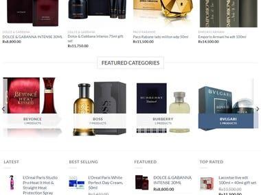 E-commerce Cosmetics website.