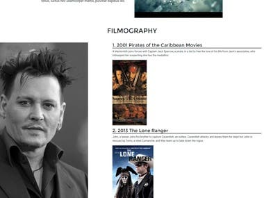 Actor Portfolio Website