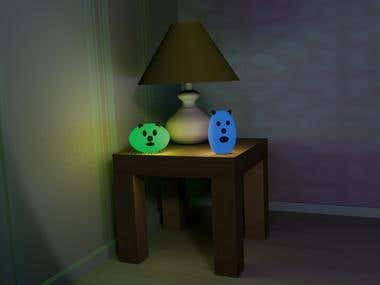 Greeny and Bluey