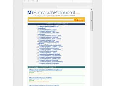 Mi Formación Profesional - Custom CMS made Responsive