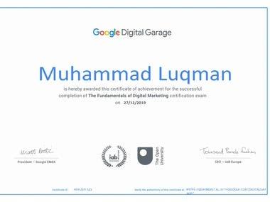 certipecate in digital marketing