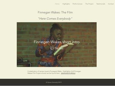 Wix Website www.finneganwakes.com